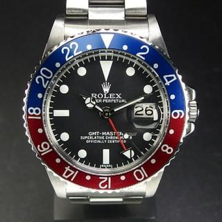 ロレックス(ROLEX)の ROLEX ロレックス GMT 赤青ベゼル 自動巻 メンズ 腕時計 (腕時計(デジタル))