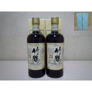ニッカウイスキー(ニッカウヰスキー)の竹鶴21年 700ml 百貨店入手品 2本 包装済(ウイスキー)
