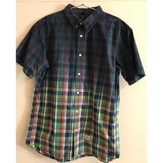 サイラス(SILAS)のサイラス 半袖 チェック シャツ メンズ サイズ3(Tシャツ/カットソー(半袖/袖なし))