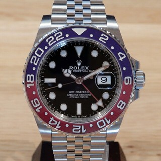 ロレックス(ROLEX)の ROLEX ロレックス GMT ジュビリーブレス 赤青  メンズ 時計 (腕時計(デジタル))