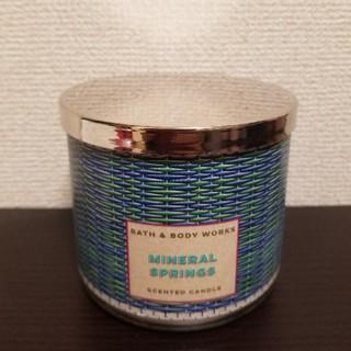 バスアンドボディーワークス(Bath & Body Works)の3芯キャンドル☆ミネラルスプリングス(キャンドル)