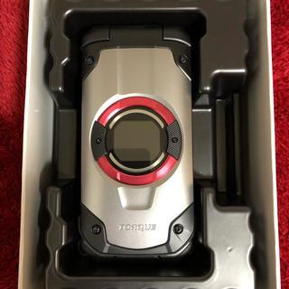 キョウセラ(京セラ)のau TORQUE X01 シルバー(携帯電話本体)