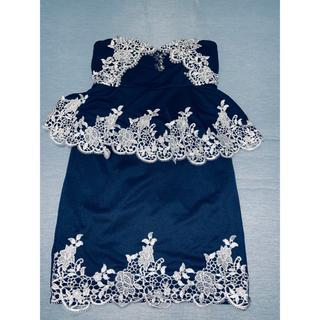 デイジーストア(dazzy store)のパールとストーンが綺麗なミニドレス♡(ミニドレス)
