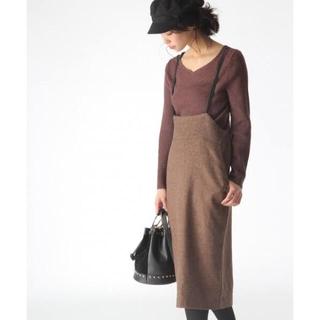 ミスティウーマン(mysty woman)のmysty woman サスペンダー付タイトスカート(ロングスカート)