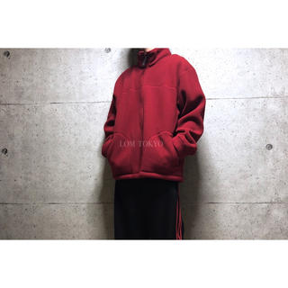 [used]'SUZUKI' red fleece jacket.(ブルゾン)
