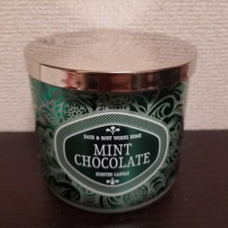 バスアンドボディーワークス(Bath & Body Works)の3芯キャンドル☆ミントチョコレート(キャンドル)