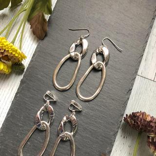 390 silver chain× hoop earrings(ピアス)