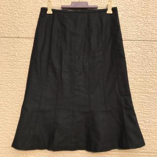 エムプルミエ(M-premier)のM-PREMIER エムプルミエ スカート 黒 ブラック 36(ひざ丈スカート)