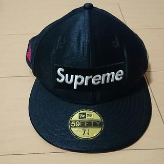 シュプリーム(Supreme)のSupreme NEWERA ボックスロゴ dazzle キャップ ブラック(キャップ)