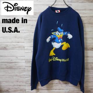 ディズニー(Disney)のUSA製 Disney Mickey Inc. ドナルド スウェット トレーナー(スウェット)