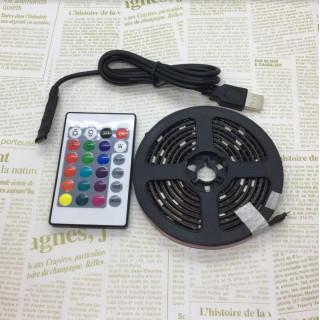 防水LEDテープ 黒ベース2m リモコン付16色切替(その他)