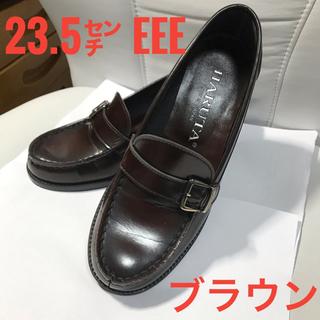 ハルタ(HARUTA)のHARUTA ローファー ブラウン 23.5 EEE(ローファー/革靴)