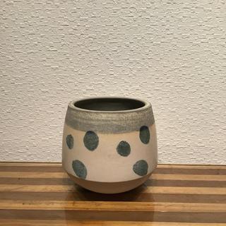 ●Trapezoid POT - dot White -  No.38(プランター)