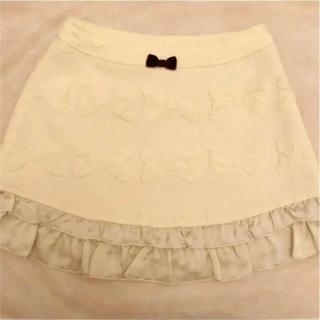 エミリーテンプルキュート(Emily Temple cute)のemily temple cute リボンジャガードスカート きなり(ミニスカート)
