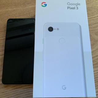 アンドロイド(ANDROID)のGoogle pixel3 64GB ホワイト 白 中古 simフリー(スマートフォン本体)
