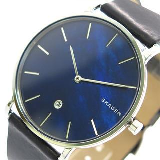 スカーゲン(SKAGEN)のスカーゲン SKAGEN 腕時計 メンズ クォーツ ネイビーシェル ブラック(腕時計(アナログ))