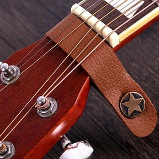 ☆ 新品‼️ ギター ストラップボタン(ストラップホルダー)星柄 ブラウン ☆(ストラップ)