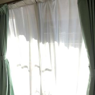 ニトリ(ニトリ)のニトリ 防災 カーテン 220cm レースカーテン 合計4枚セット(カーテン)