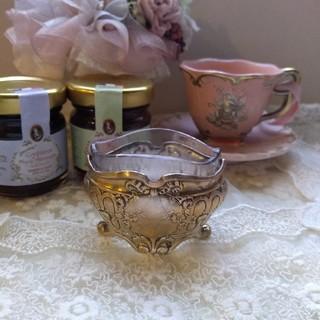 ロイヤルアルバート(ROYAL ALBERT)のレア!可愛い♡フランスアンティーク リボンとローズ装飾 サリエール(食器)