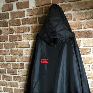 カンタベリー(CANTERBURY)の90s カンタベリー ナイロンジャケット パーカー デカロゴ 黒 白 赤 L(ナイロンジャケット)