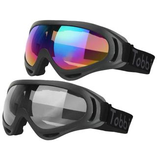 スキーゴーグル( 2点セット カラフル/グレー)(アクセサリー)