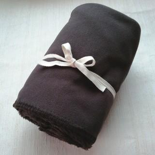 MUJI (無印良品) - 《未使用》MUJI 無印良品 フリース膝掛け(茶色)