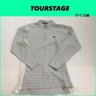 ツアーステージ(TOURSTAGE)のツアーステージ ジップアップ長袖 M 美品 Tour Stage ボーダー柄(ウエア)