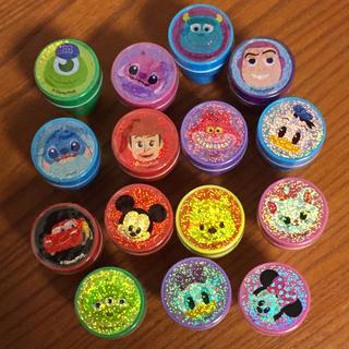 ディズニー(Disney)の新品*ディズニーキャラクター スタンプ ハンコ 15種類 セット(印鑑/スタンプ/朱肉)