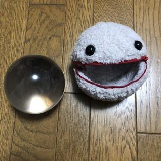 ジャグリング クリスタルボール 90㎜クリア、ケース( パックン )セット
