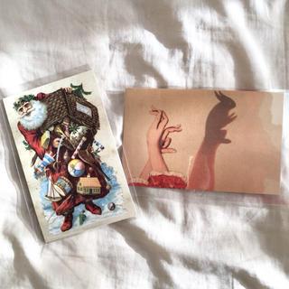 アッシュペーフランス(H.P.FRANCE)のJohn Derian ジョンデリアン ポストカード 2枚セット③ Noel(切手/官製はがき)