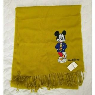 ディズニー(Disney)の【新品タグ付】ミッキー 黄色 ストール(マフラー/ショール)