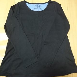 オリーブデオリーブ(OLIVEdesOLIVE)の授乳服 ロンT(黒) OLIVE des OLIVE(マタニティトップス)