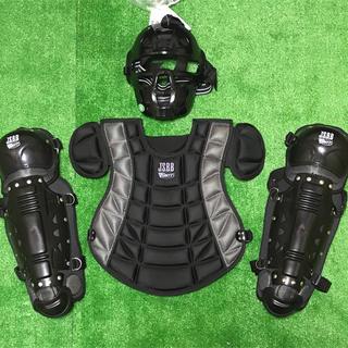 ★未使用品★少年軟式野球 キャッチャー 防具セット ブラック 黒(防具)