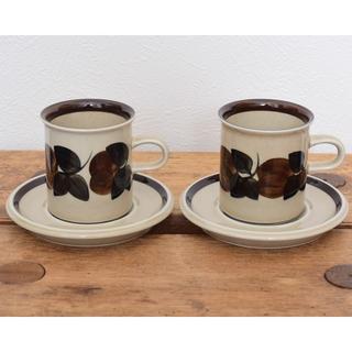 アラビア(ARABIA)のアラビア (現イッタラ社) ルイージャ コーヒー カップ ソーサー 2客セット(食器)