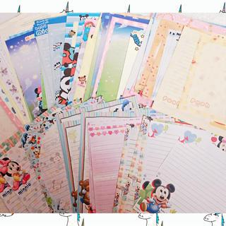 ディズニー(Disney)の♪ 未使用 レターセット 便箋のみ 20枚セット ディズニー など(カード/レター/ラッピング)