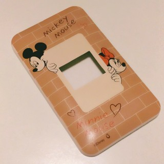 ディズニー(Disney)のディズニー ミッキー & ミニー スイッチプレート スイッチカバー 未使用(その他)