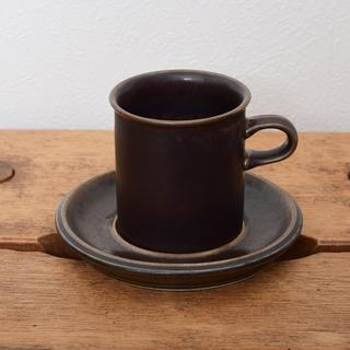 アラビア(ARABIA)のアラビア (現イッタラ社) ルスカ コーヒー カップ ソーサー(食器)