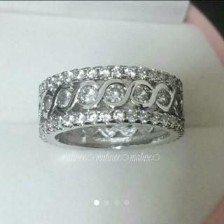 新品 20号 インフィニティ ∞ エタニティリング 上質AAACZ ダイヤモンド(リング(指輪))