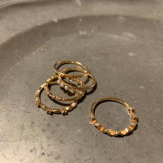 アガット(agete)のagate 指輪 9号 限定セット k10(リング(指輪))