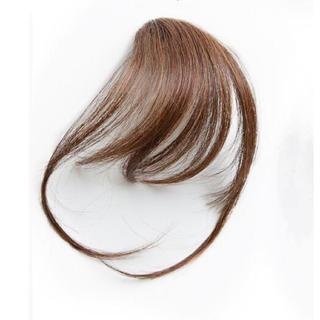 前髪ウィッグ100%人毛 サイドありナライトブラウン(前髪ウィッグ)