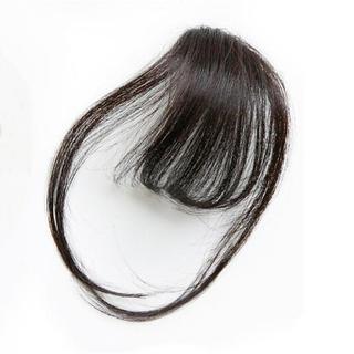 前髪ウィッグ100%人毛 サイドありナチュラルブラック(前髪ウィッグ)