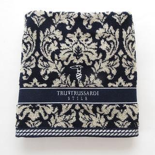トラサルディ(Trussardi)の新品タグ付き✽トラサルディ バスタオル✽濃紺(タオル/バス用品)
