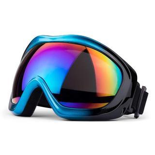 【上位モデル】ミラータイプゴーグル(ブルー&ブラック グラデ) スキー スノボ(アクセサリー)