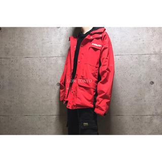 [used]over size red nylon jacket.(ナイロンジャケット)