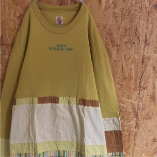 カネコイサオ(KANEKO ISAO)の♥︎USED 個性派古着【kaneko isao】ロングスリーブ カットソー♥︎(Tシャツ/カットソー(七分/長袖))