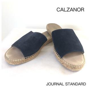 カルザノール(Calzanor)の【CALZANOR】カルザノール レザーサンダル(ネイビー)(サンダル)