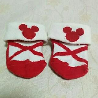 ディズニー(Disney)の新品 ディズニー 靴下 ソックス ミッキー 新生児 防寒 出産 9 10 11(靴下/タイツ)