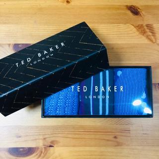 テッドベイカー(TED BAKER)の新品・未使用・タグ付【Ted Baker】SLED 新作ソックス 三点セット(ソックス)