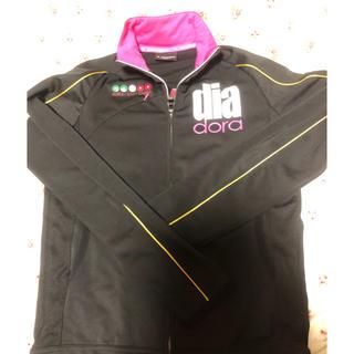ディアドラ(DIADORA)の☆ 新品 ディアドラ   テニス ジャケット Lサイズ ブラック ☆(ウェア)