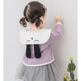 (予約商品)海外子供服☆新品 女の子 ウサギ耳 刺繍白襟ブラウス トップス(ブラウス)